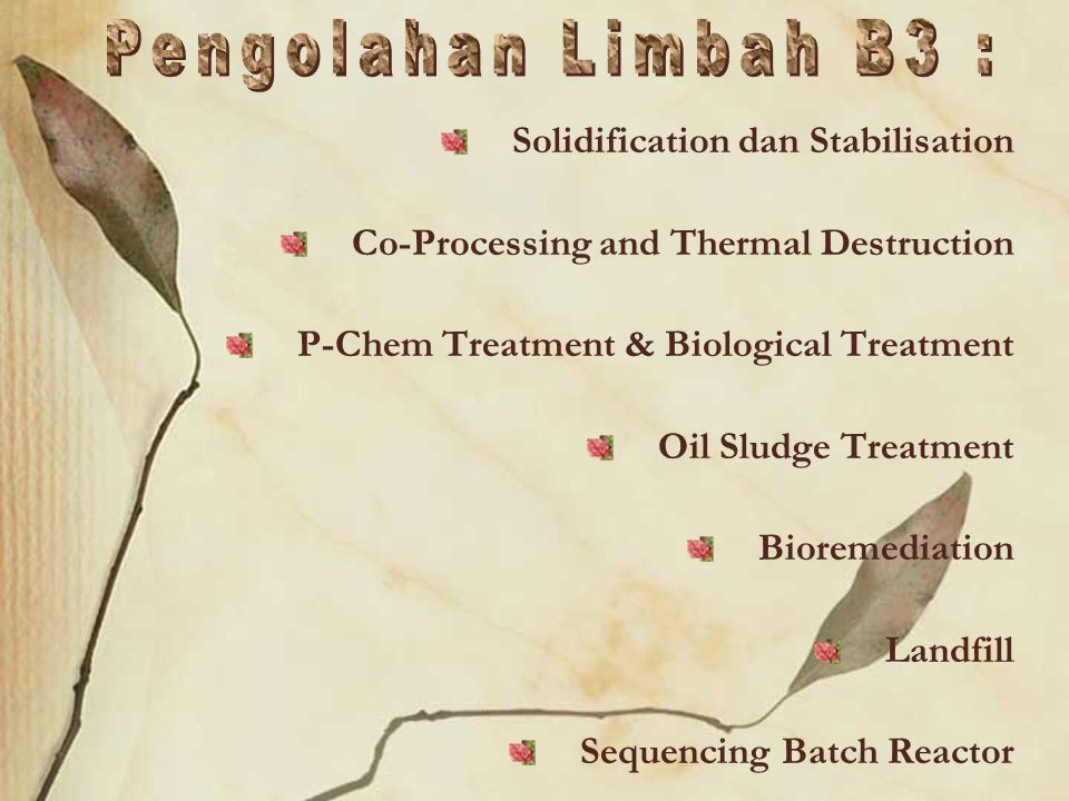 Pengolahan Limbah B3 : Solidification dan Stabilisation