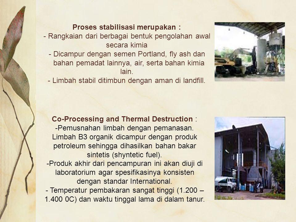 Proses stabilisasi merupakan :