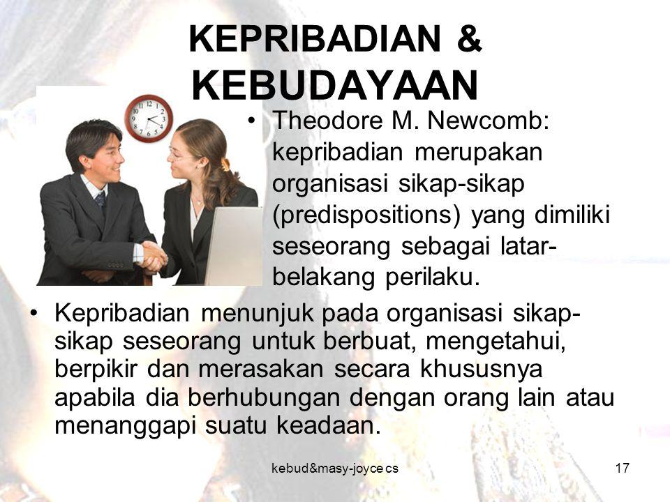 KEPRIBADIAN & KEBUDAYAAN