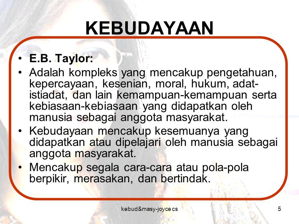 KEBUDAYAAN E.B. Taylor: