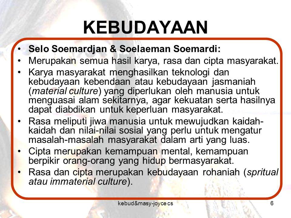 KEBUDAYAAN Selo Soemardjan & Soelaeman Soemardi: