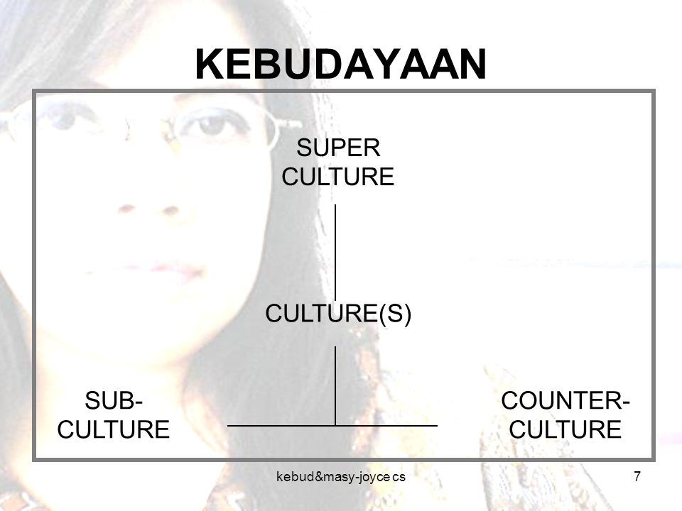 KEBUDAYAAN SUPER CULTURE CULTURE(S) SUB-CULTURE COUNTER-CULTURE