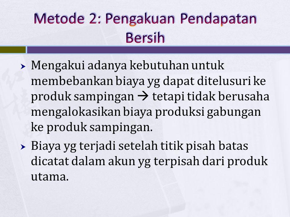 Metode 2: Pengakuan Pendapatan Bersih