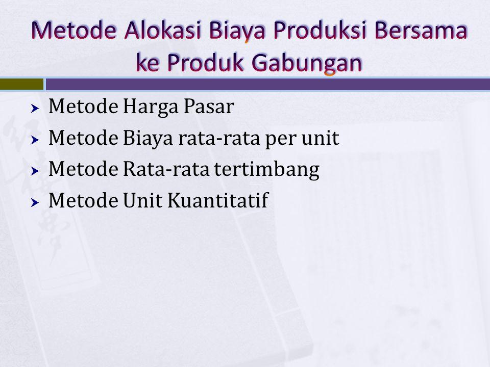 Metode Alokasi Biaya Produksi Bersama ke Produk Gabungan