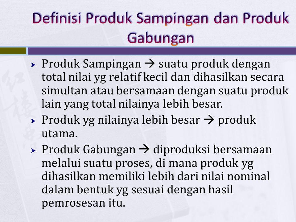 Definisi Produk Sampingan dan Produk Gabungan