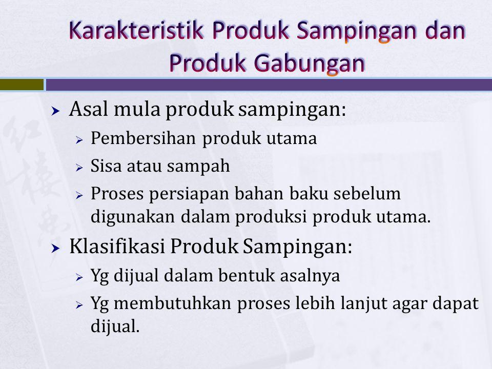 Karakteristik Produk Sampingan dan Produk Gabungan