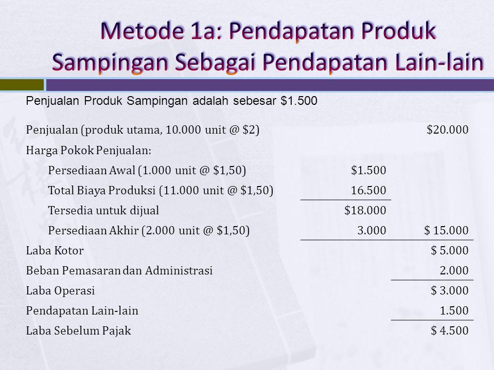 Metode 1a: Pendapatan Produk Sampingan Sebagai Pendapatan Lain-lain