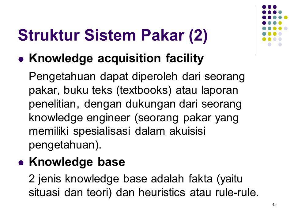 Struktur Sistem Pakar (2)