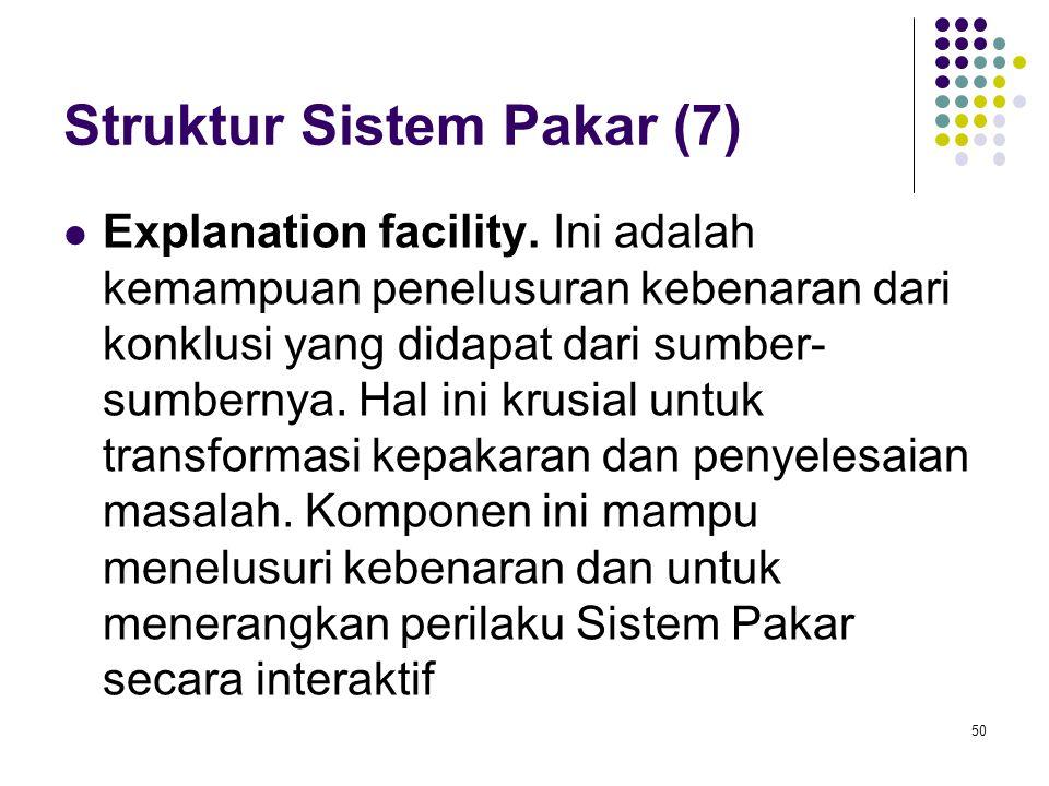 Struktur Sistem Pakar (7)