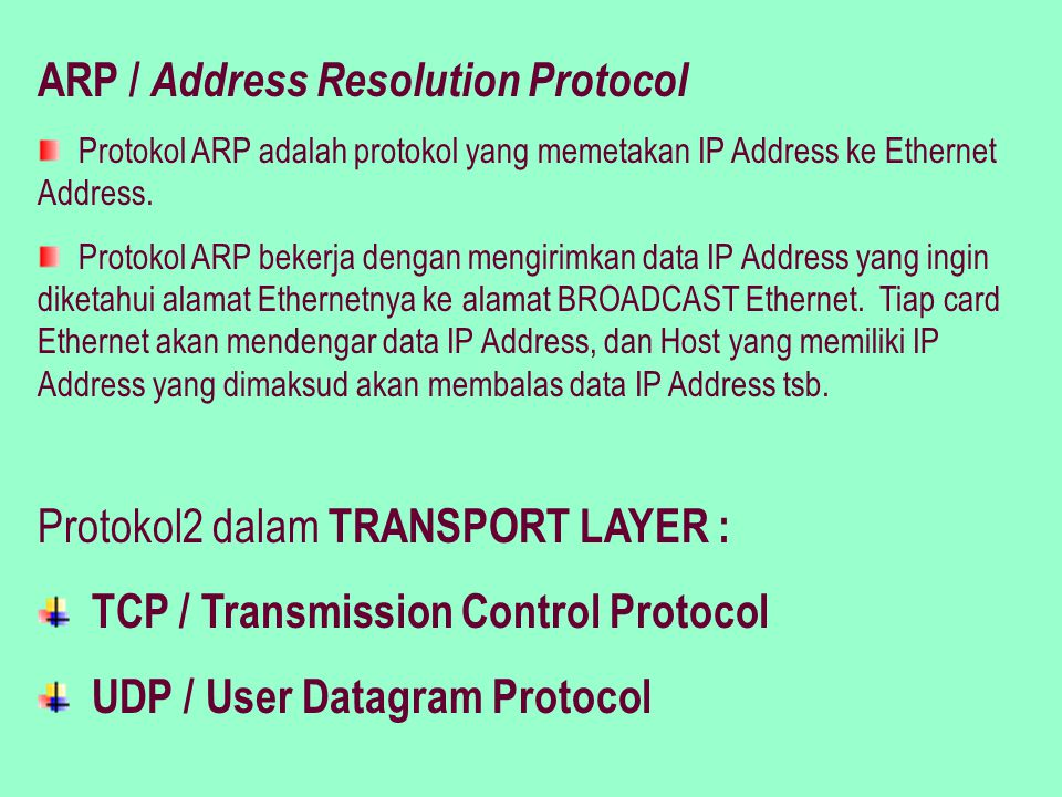 ARP / Address Resolution Protocol