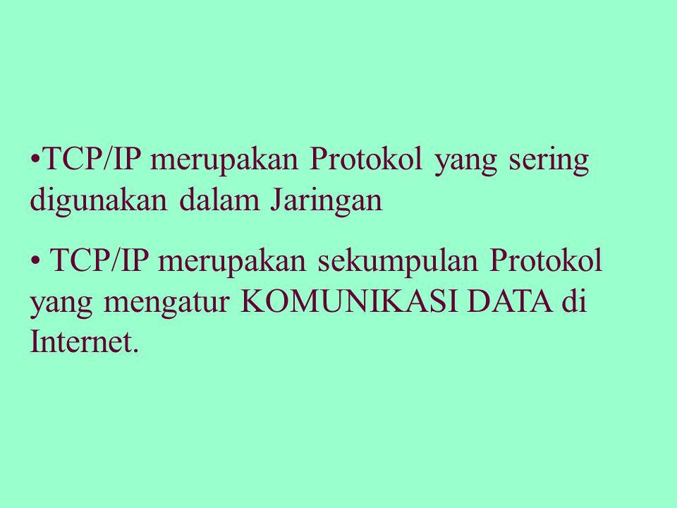 TCP/IP merupakan Protokol yang sering digunakan dalam Jaringan