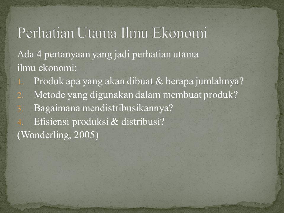 Perhatian Utama Ilmu Ekonomi