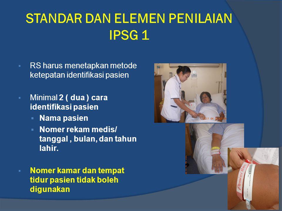 STANDAR DAN ELEMEN PENILAIAN IPSG 1