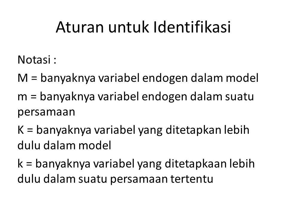 Aturan untuk Identifikasi