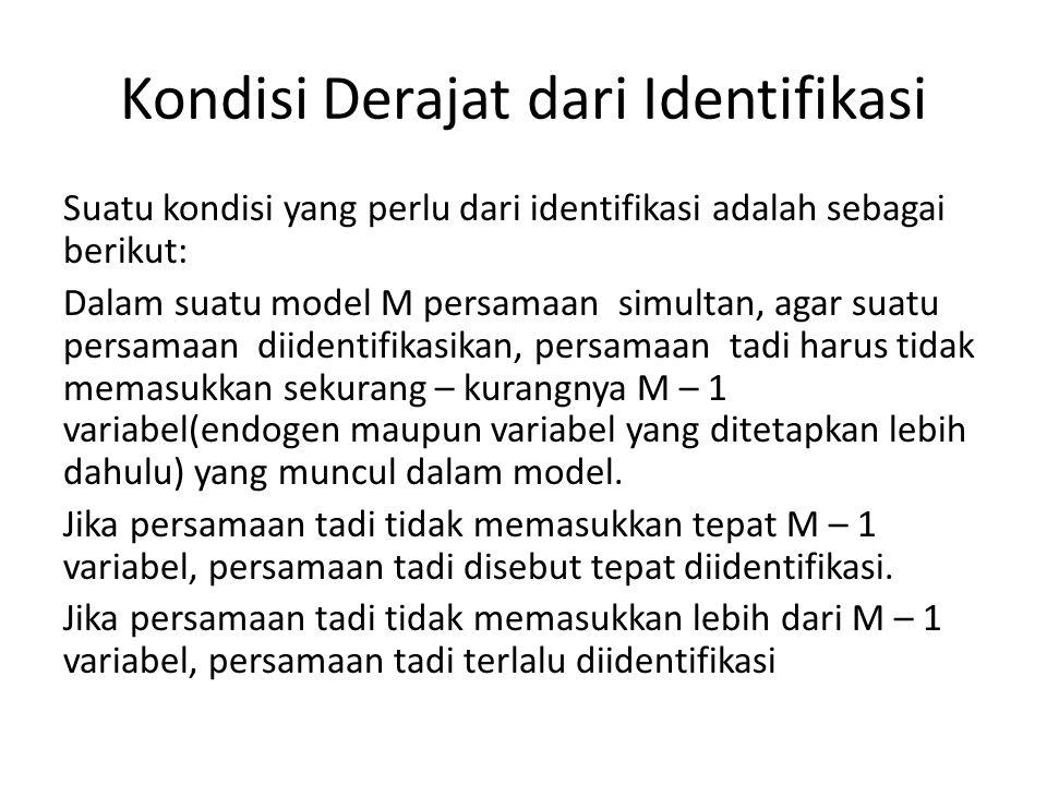 Kondisi Derajat dari Identifikasi
