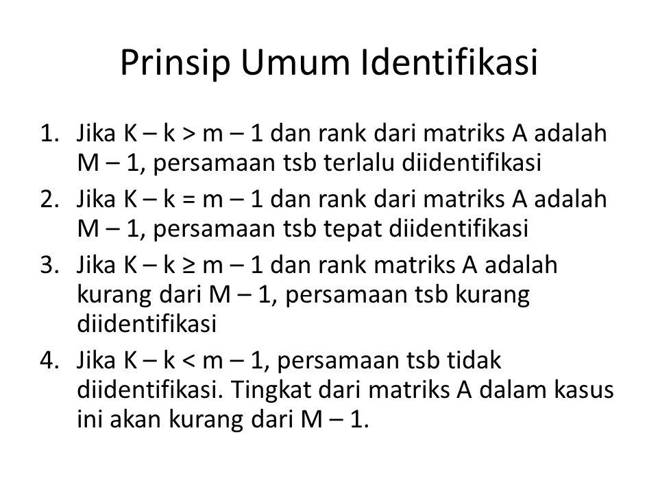 Prinsip Umum Identifikasi