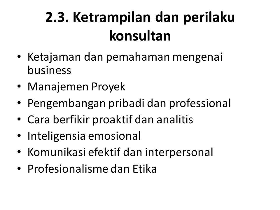 2.3. Ketrampilan dan perilaku konsultan