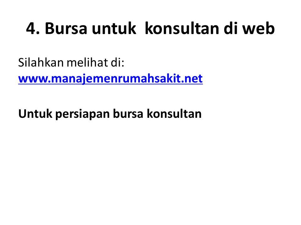 4. Bursa untuk konsultan di web
