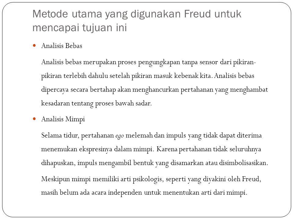 Metode utama yang digunakan Freud untuk mencapai tujuan ini