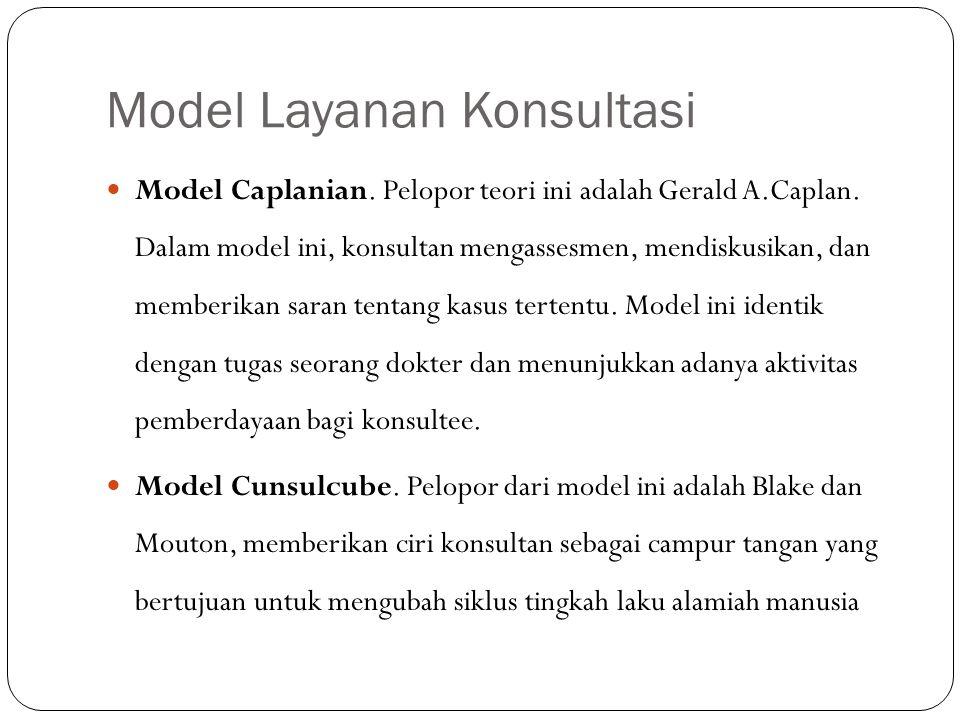 Model Layanan Konsultasi