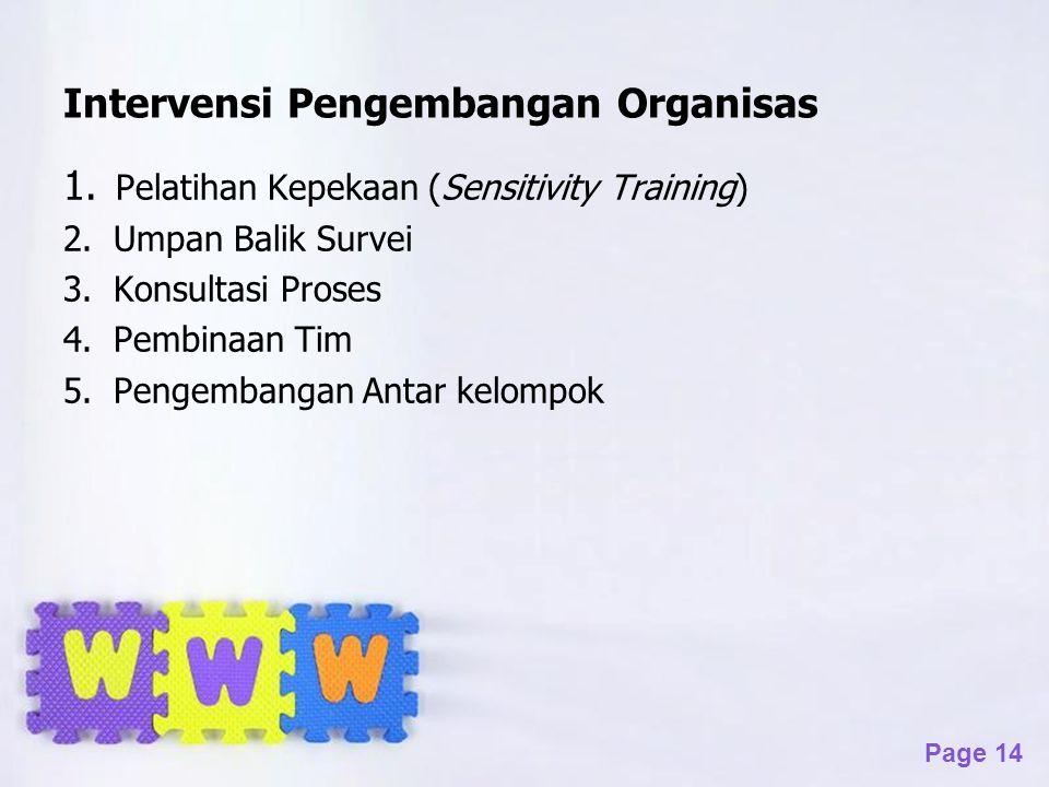Intervensi Pengembangan Organisas