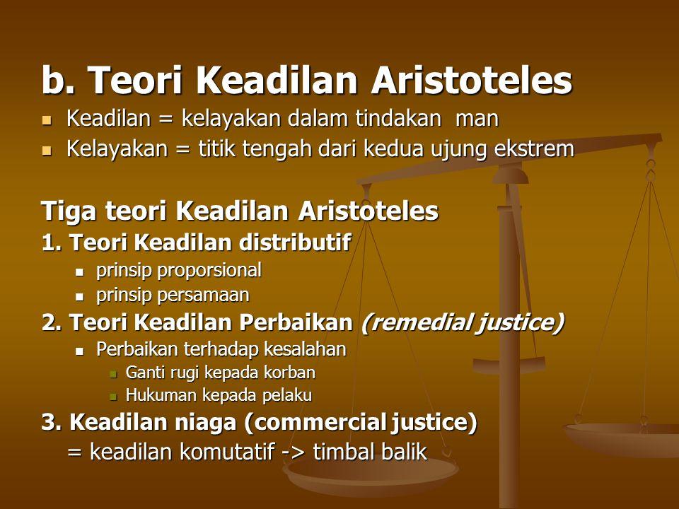 b. Teori Keadilan Aristoteles