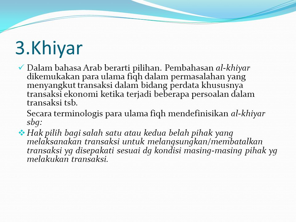 3.Khiyar