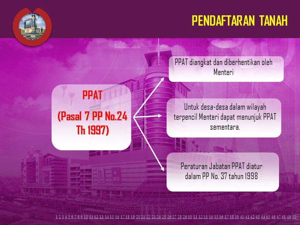 PENDAFTARAN TANAH PPAT (Pasal 7 PP No.24 Th 1997)