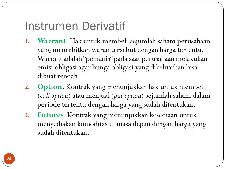 Instrumen Derivatif