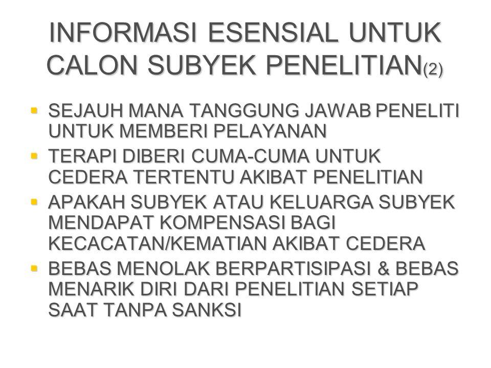 INFORMASI ESENSIAL UNTUK CALON SUBYEK PENELITIAN(2)