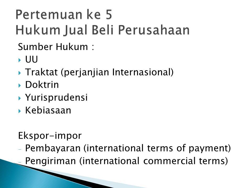 Pertemuan ke 5 Hukum Jual Beli Perusahaan