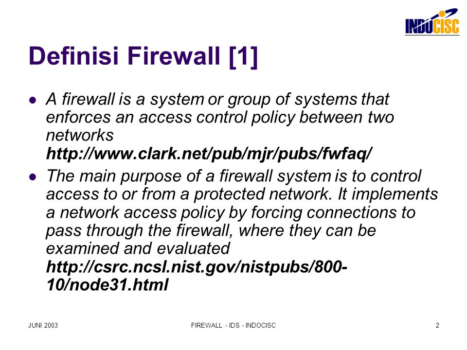 FIREWALL - IDS - INDOCISC