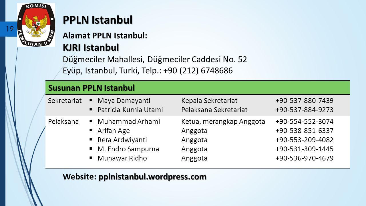 PPLN Istanbul KJRI Istanbul Alamat PPLN Istanbul: