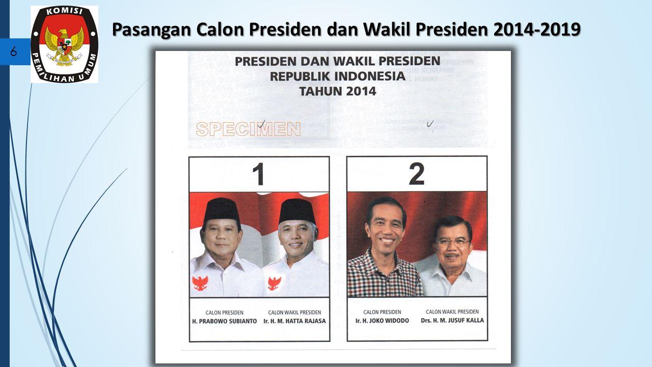 Pasangan Calon Presiden dan Wakil Presiden 2014-2019