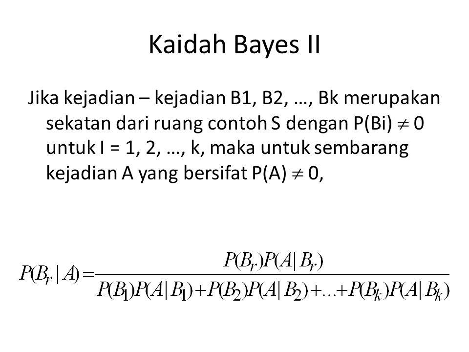Kaidah Bayes II