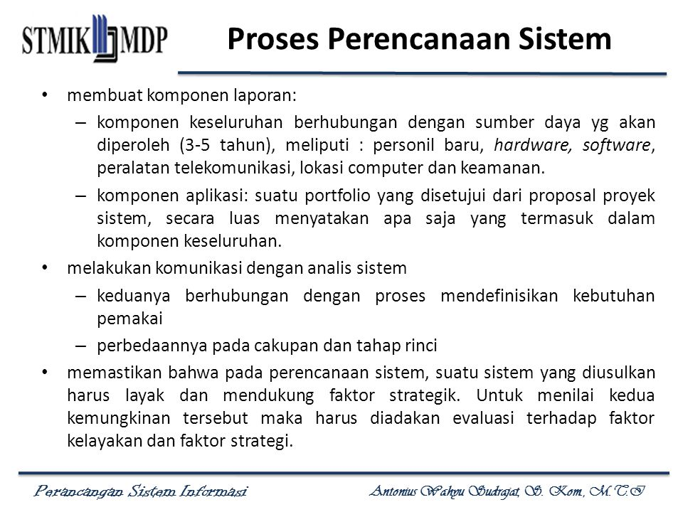 Proses Perencanaan Sistem