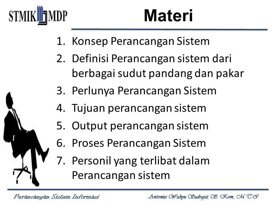 Materi Konsep Perancangan Sistem