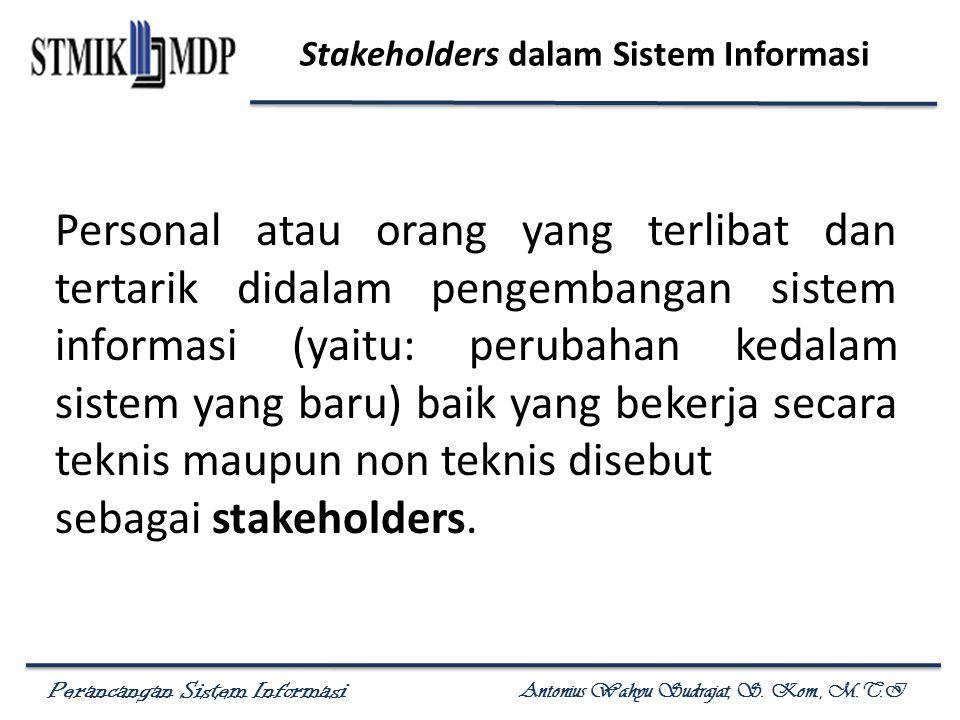 Stakeholders dalam Sistem Informasi