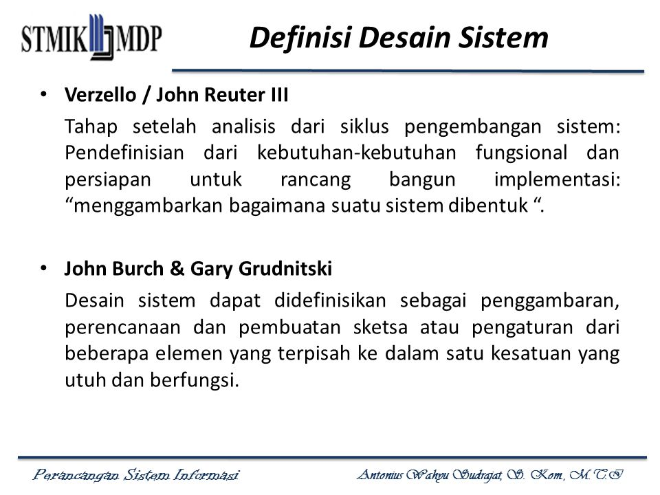 Definisi Desain Sistem