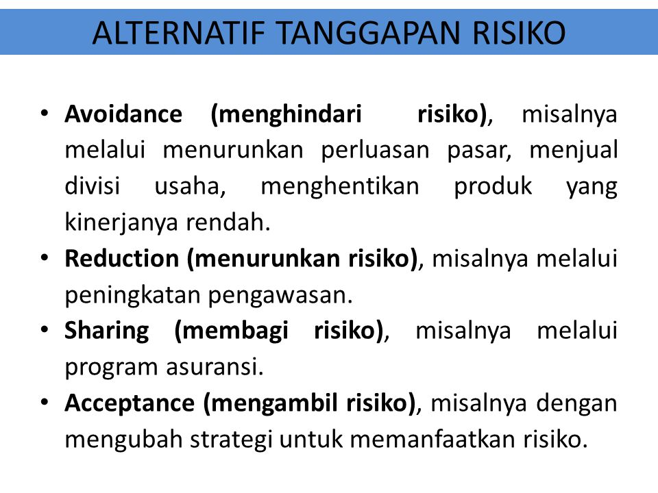 ALTERNATIF TANGGAPAN RISIKO