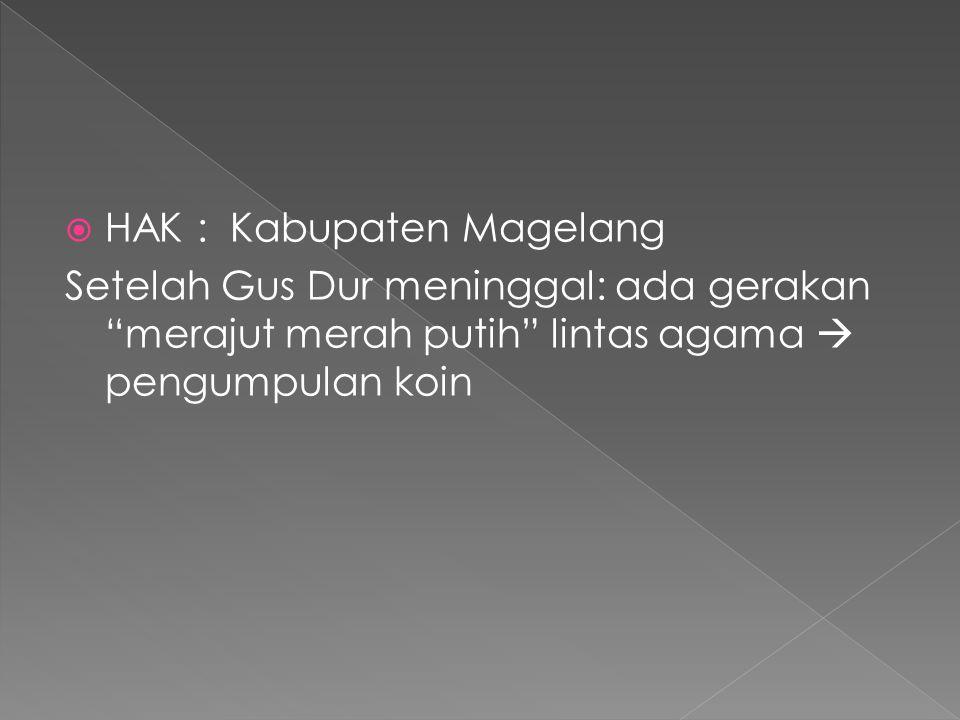 HAK : Kabupaten Magelang