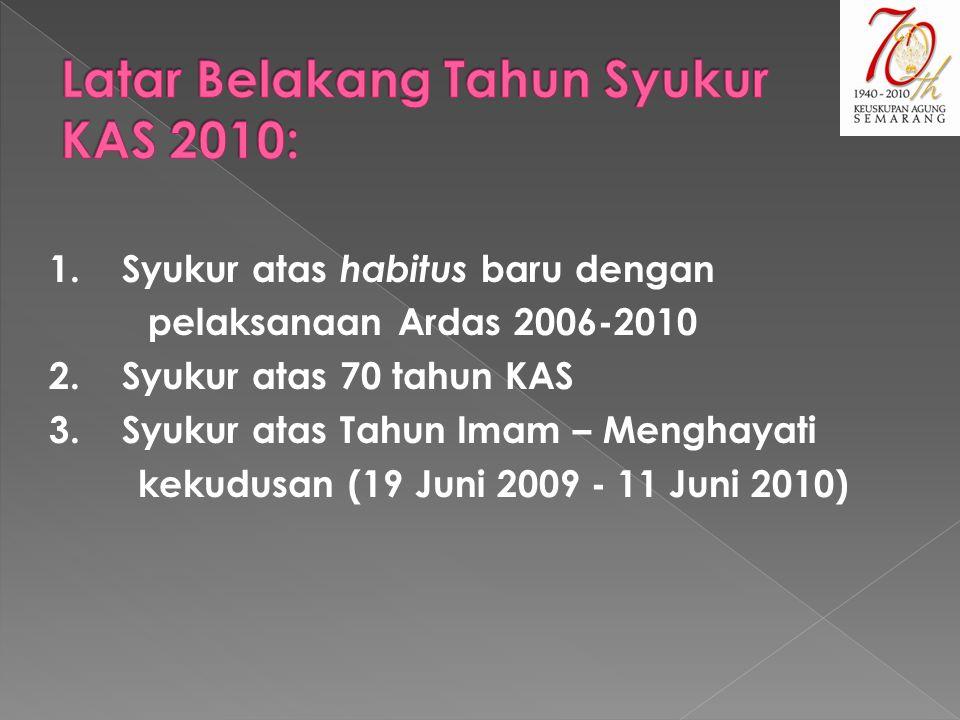 Latar Belakang Tahun Syukur KAS 2010: