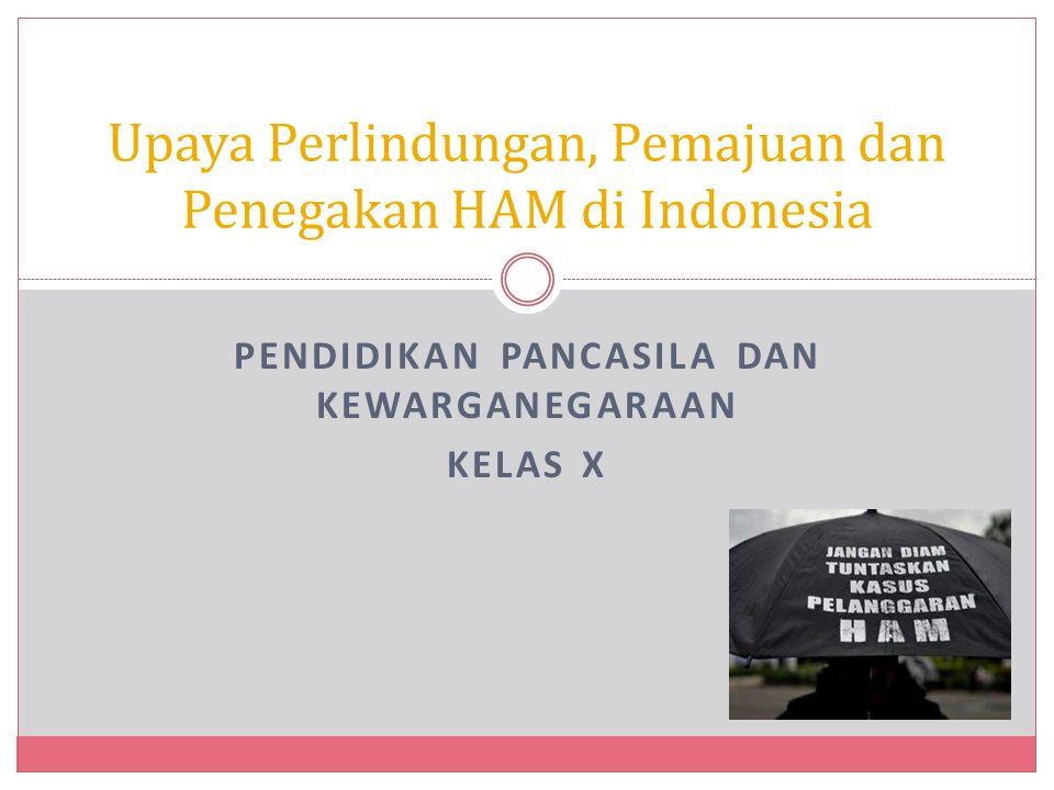 Upaya Perlindungan, Pemajuan dan Penegakan HAM di Indonesia