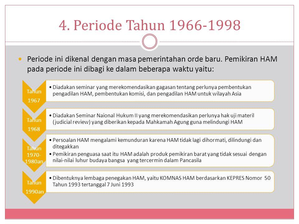 4. Periode Tahun 1966-1998