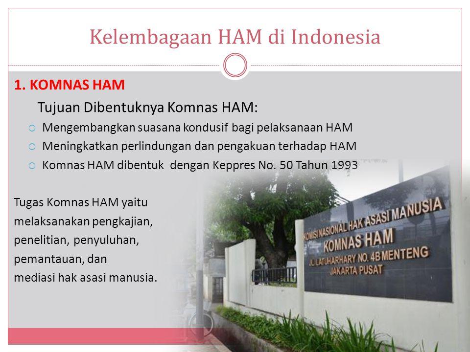 Kelembagaan HAM di Indonesia