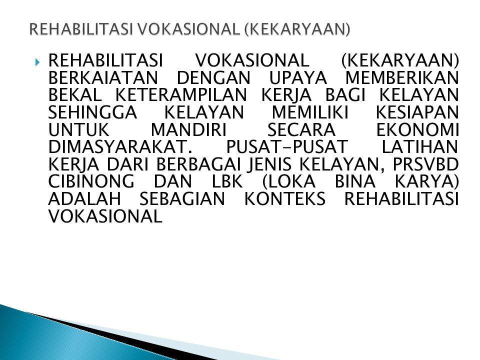 REHABILITASI VOKASIONAL (KEKARYAAN)
