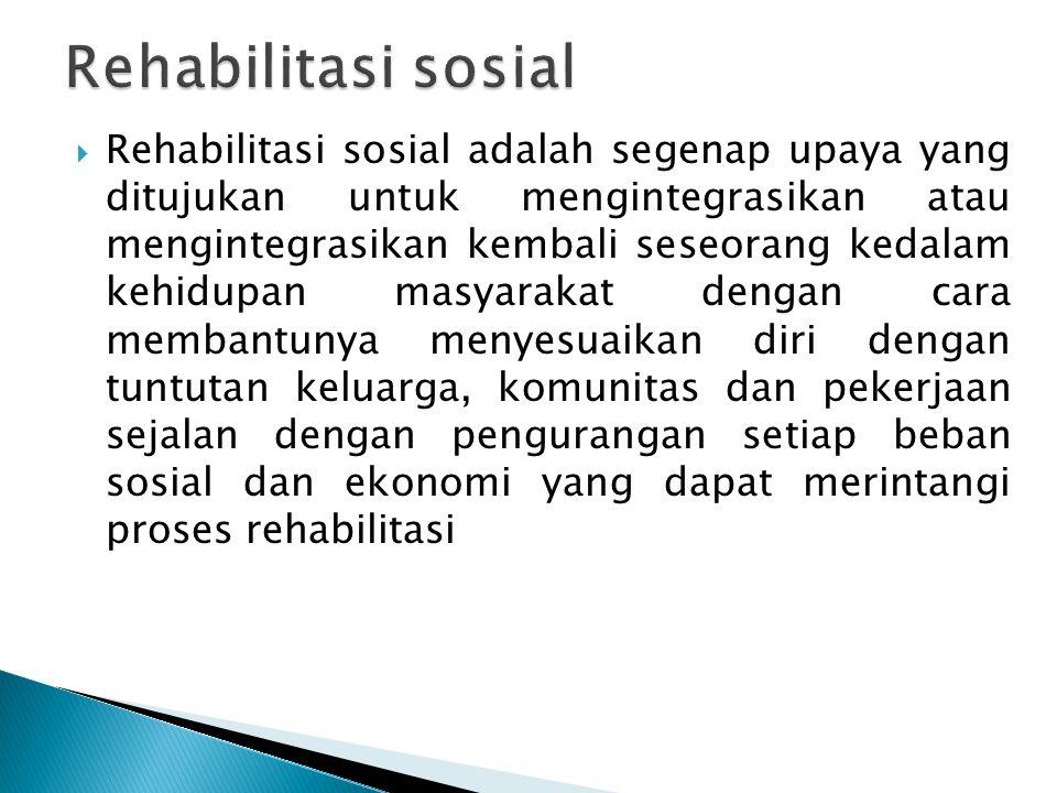Rehabilitasi sosial