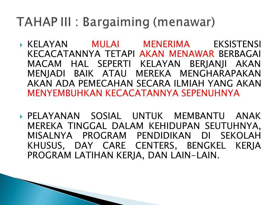 TAHAP III : Bargaiming (menawar)