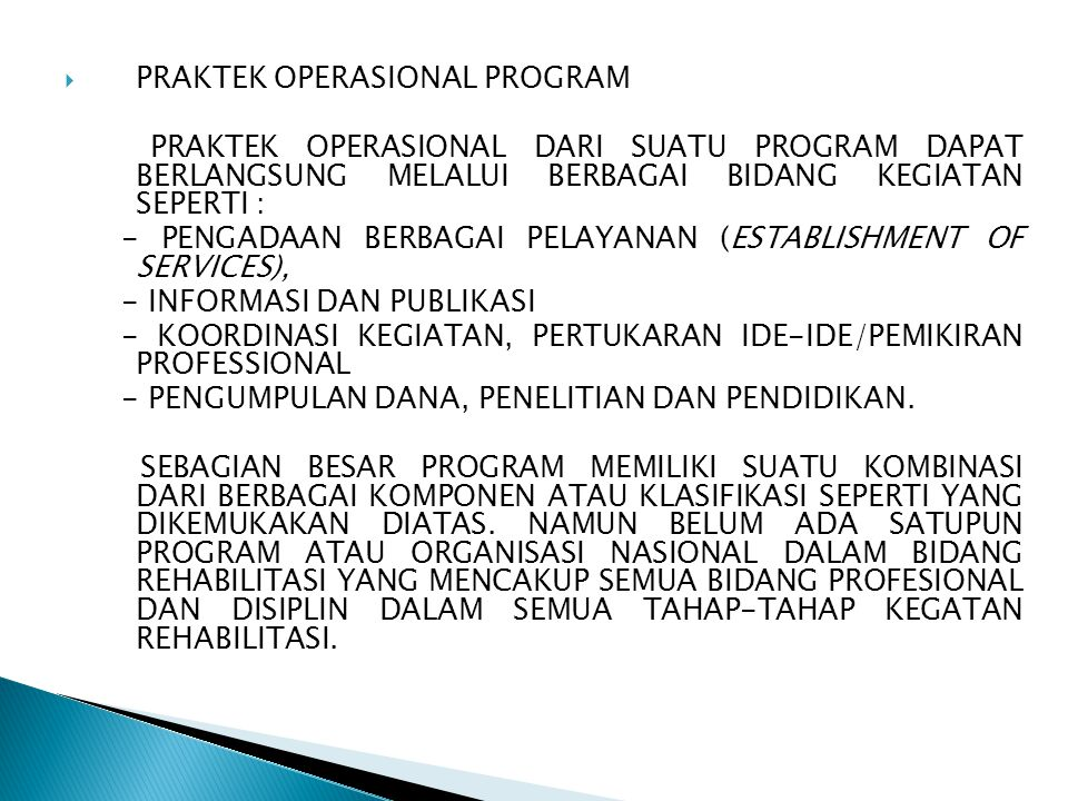 PRAKTEK OPERASIONAL PROGRAM