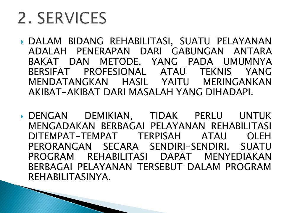 2. SERVICES